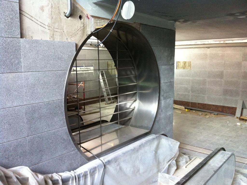 Σταθμός Χαϊδάρι του Μετρό, πρόοδος Μαΐου 2011. Πηγή: Αττικό Μετρό