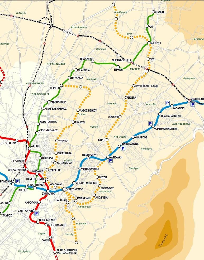 Χάρτης της γραμμής 4 του Μετρό