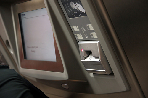 Ticket issuing machine at an Athens metro station