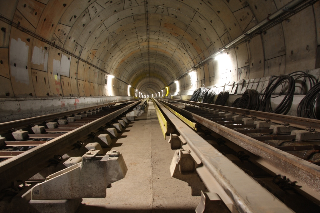 Πρόοδος επέκτασης προς Χαϊδάρι, Αύγουστος 2011. Πηγή: Αττικό Μετρό