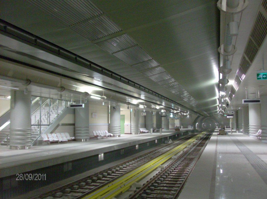 Πρόοδος της επέκτασης του Μετρό προς Ελληνικό, Σεπτέμβριος 2011. Πηγή: Αττικό Μετρό