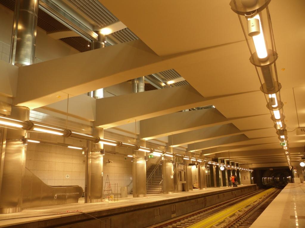 Πρόοδος επέκτασης του Μετρό προς Ανθούπολη, Φεβρουάριος 2012. Πηγή: Αττικό Μετρό