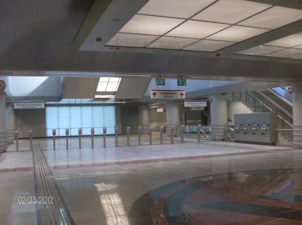 Πρόοδος επέκτασης του Μετρό προς Ελληνικό, Φεβρουάριος 2012. Πηγή: Αττικό Μετρό