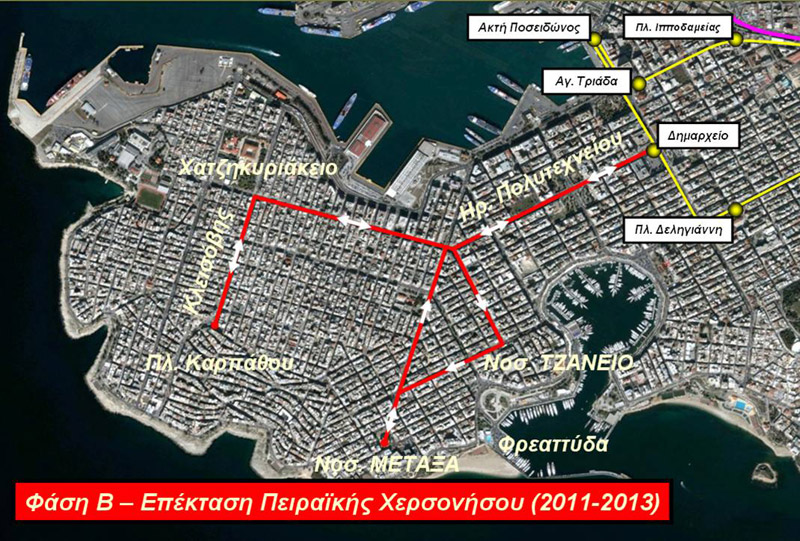 Επέκταση του Τραμ στον Πειραιά, β' φάση. Πηγή: ΣΤΑΣΥ