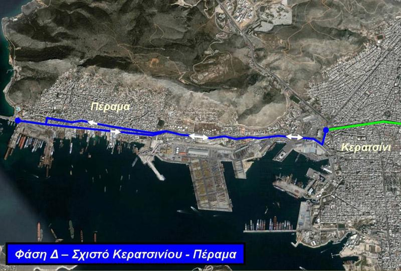 Δ' φάση της επέκτασης του Τραμ προς Πέραμα. Πηγή: ΣΤΑΣΥ