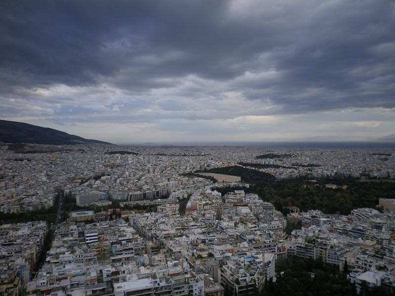 Η θέα από την κορυφή του λόφου