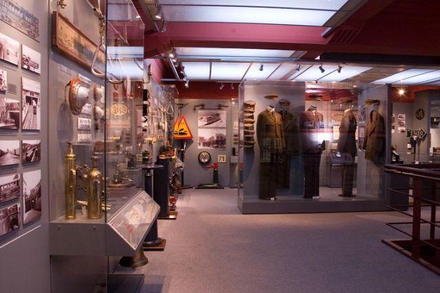 Από το εσωτερικό του Μουσείου Ηλεκτρικών Σιδηροδρόμων