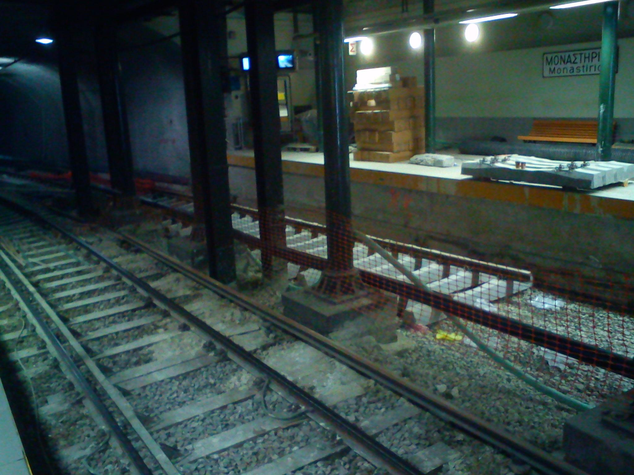 Πρόοδος εργασιών στο σταθμό Μοναστηράκι (18/05/2011) Πηγή: Ovelikios