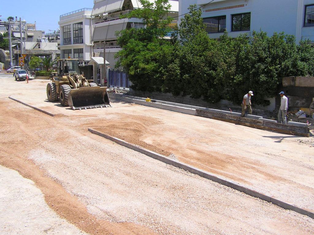Πρόοδος επέκτασης προς Αγία Μαρίνα, Ιούνιος 2011. Πηγή: Αττικό Μετρό