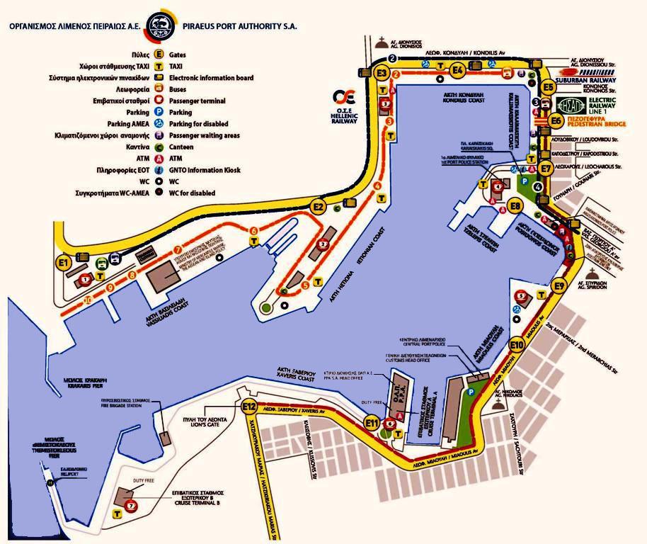 Χάρτης του Λιμένος Πειραιώς. Πηγή ΟΛΠ