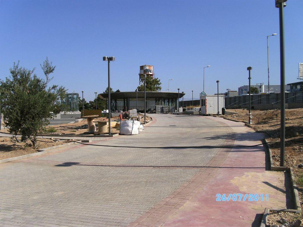 Πρόοδος της επέκτασης του Μετρό προς Ελληνικό,  Αύγουστος 2011. Πηγή: Αττικό Μετρό