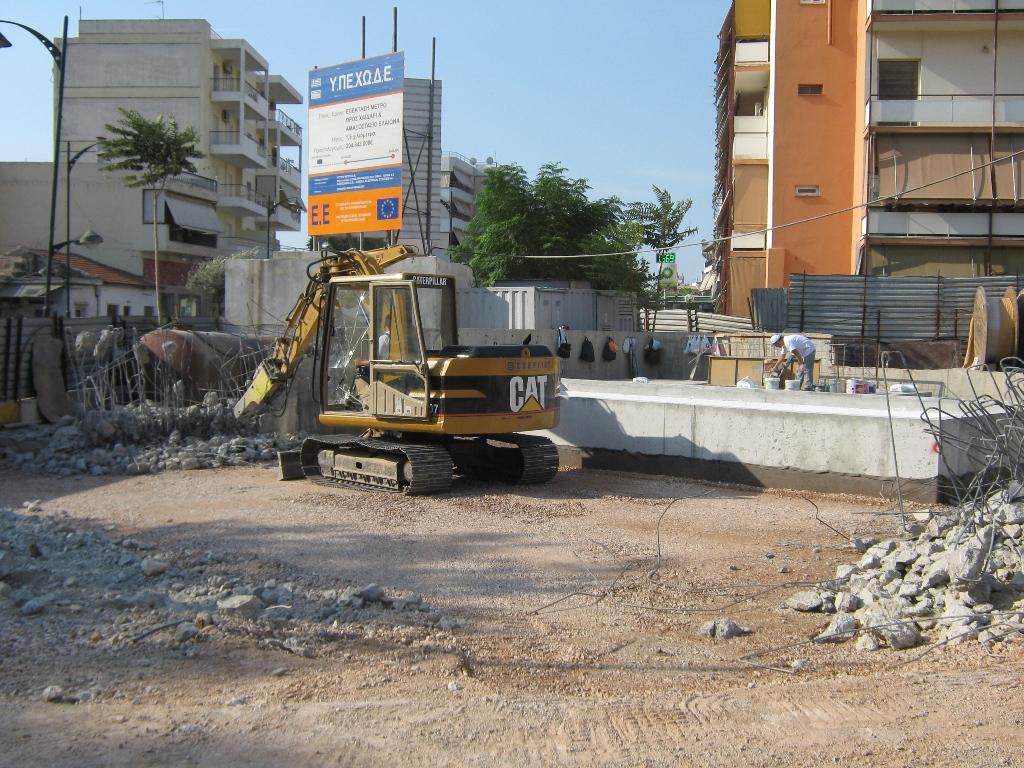 Πρόοδος επέκτασης προς Χαϊδάρι, Σεπτέμβριος 2011. Πηγή: Αττικό Μετρό