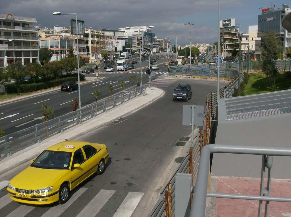 Πρόοδος της επέκτασης του Μετρό προς Ελληνικό, Οκτώβριος 2011. Πηγή: Αττικό Μετρό