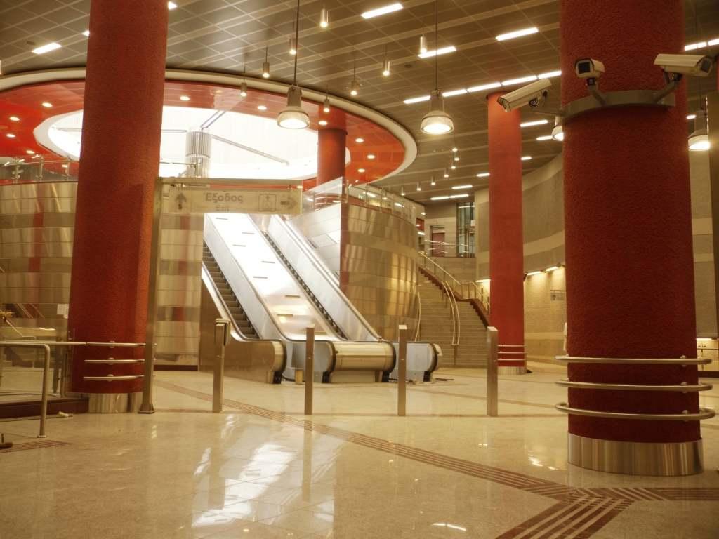 Σταθμός Περιστέρι. Πηγή: Αττικό Μετρό Α.Ε.