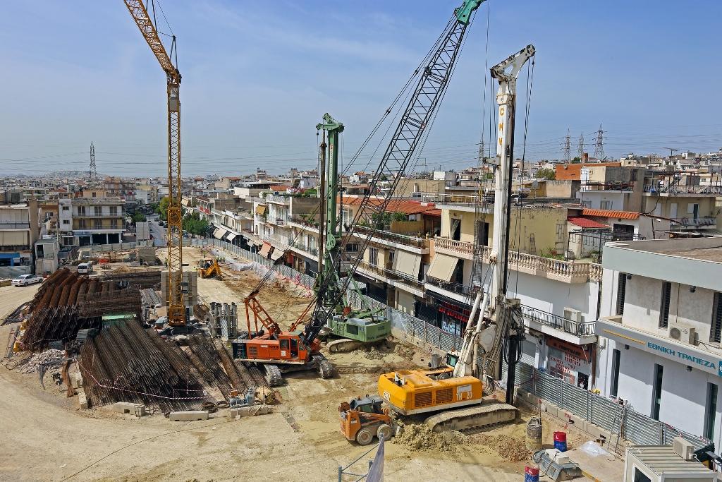 Πρόοδος επέκτασης μετρό προς Πειραιά, Μάιος 2013. ΠΗΓΗ: Αττικό Μετρό Α.Ε.