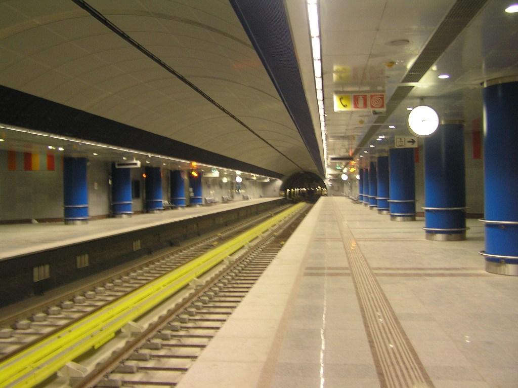 Ο σταθμός Αγία Μαρίνα του Μετρό