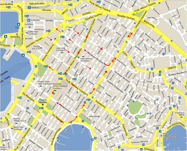 Κυκλοφοριακές ρυθμίσεις από 23/2/2014 (κλικ για μεγέθυνση)