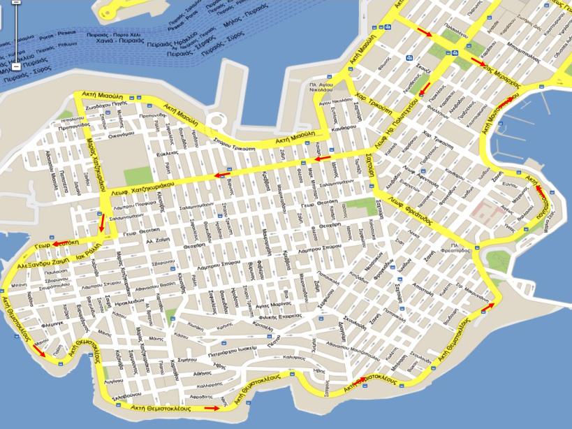 Κυκλοφοριακές ρυθμίσεις από 16/3/2014 (κλικ για μεγέθυνση)