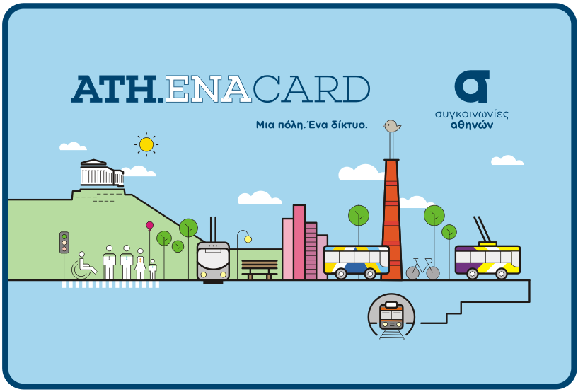 Athena card Ηλεκτρονικό εισιτήριο