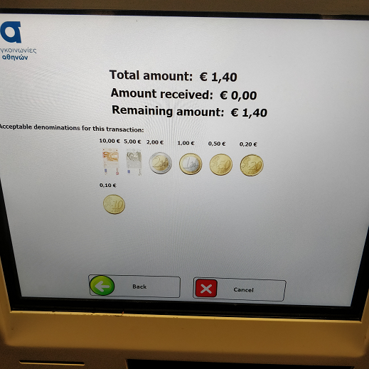 Athens Transport Ticket Machine 5