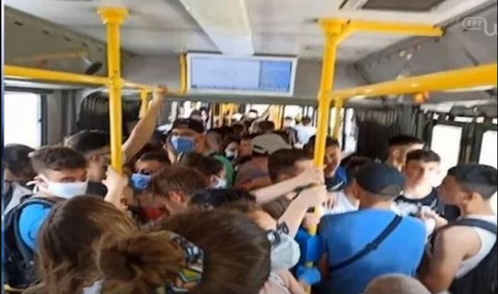 συνωστισμός λεωφορεία